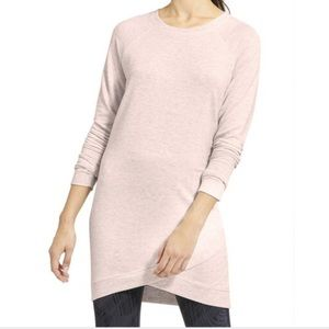 Athleta   Pink Criss Cross Sweatshirt Dress Small